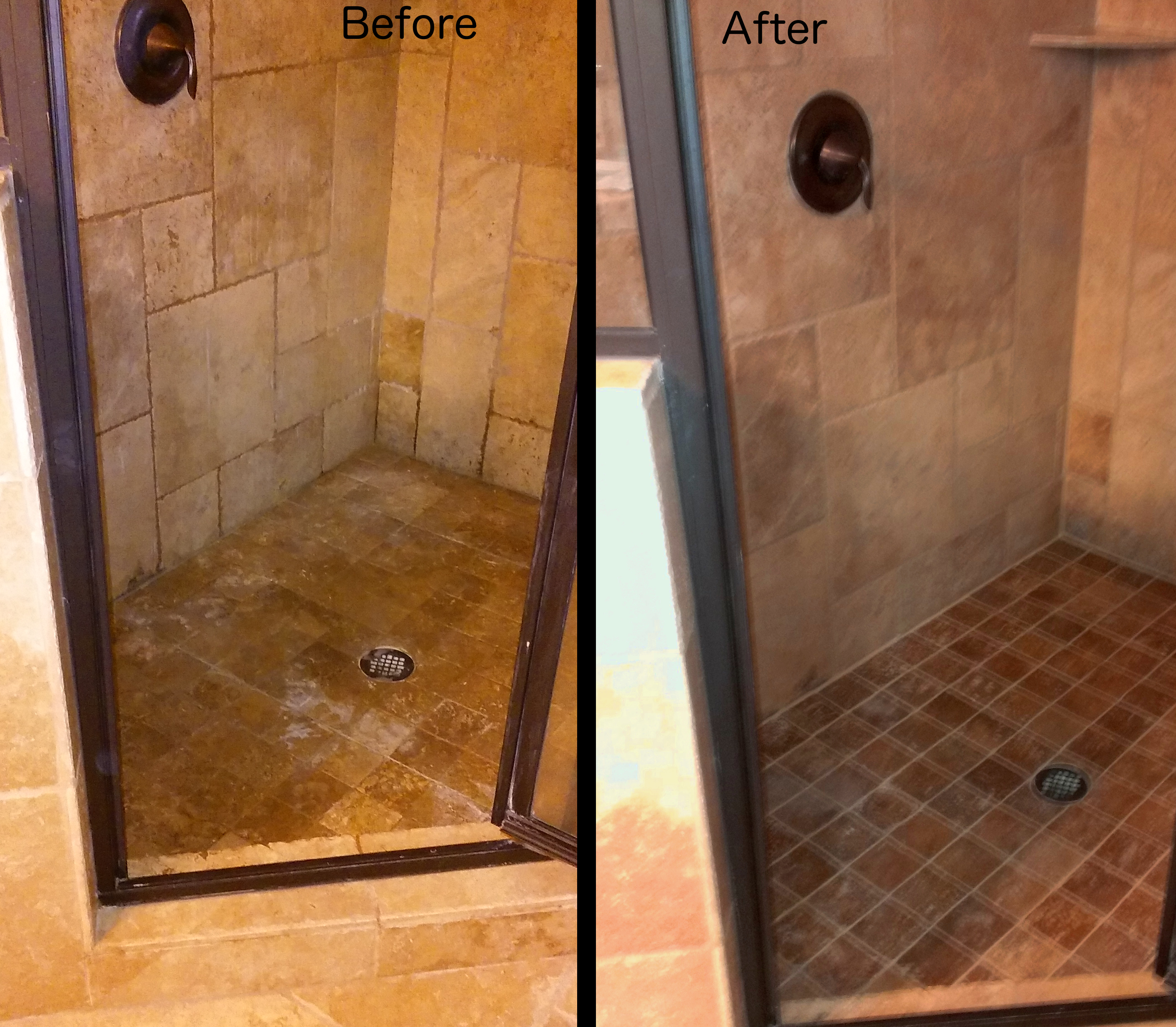 Before and after the grout masterthe grout master
